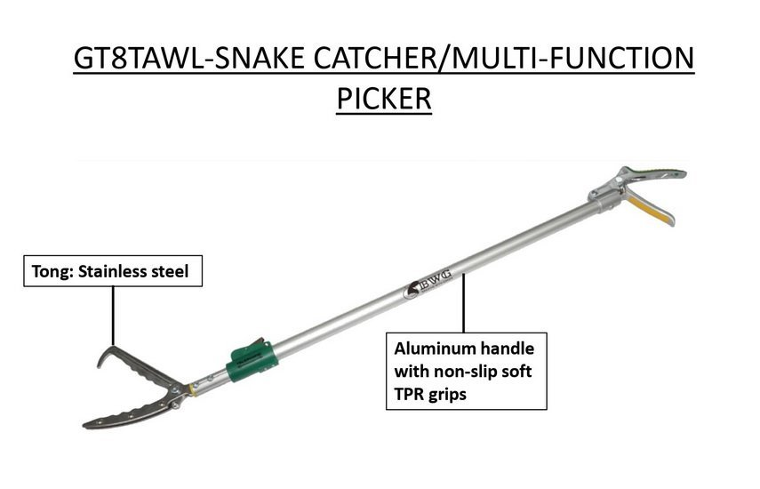 STAINLESS STEEL SNAKE CATCHER/MULTI-FUNCTION PICKER WITH ALUMINUM HANDLE