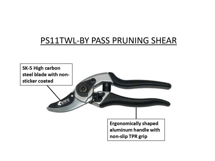 SK5 BY PASS PRUNING SHEAR WITH NON-STICKER COATED
