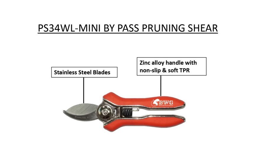 SK5 BY PASS MINI PRUNER WITH POLISHED