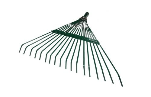 18'X18T SPRING LAWN RAKE WITH POWDER COATING