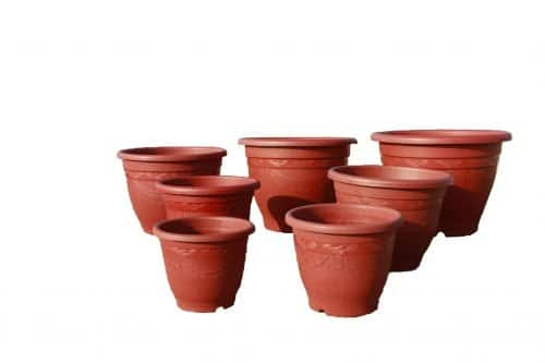 plastic recycled pots